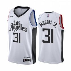 Marcus Morris Sr. Los Angeles Clippers Weiß Classic & 31 Trikot
