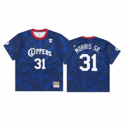 AAPE x M & N Marcus Morris Sr. & 31 Clippers königliche Trikot