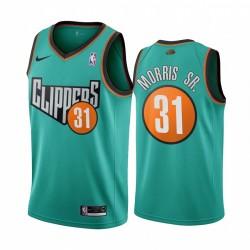 LA Clippers Marcus Morris Sr. Throwback bis 1993 Straße Trikot Grün