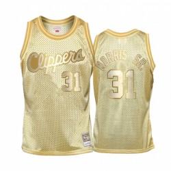 Marcus Morris Sr. & 31 LA Clippers Goldener Midas SM Trikot
