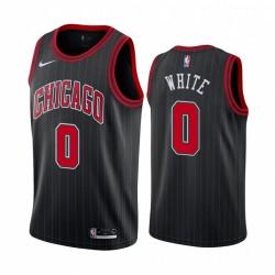 Chicago Bulls Coby Weiß Schwarz Statement Ausgabe Trikot