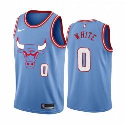 Coby Weiß Chicago Bulls Stadt Edition Blue Trikot