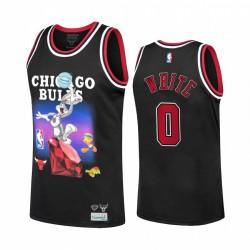 Chicago Bulls Coby Weiß Diamant Supply Co. x Space Jam x NBA & 0 Schwarz Trikot