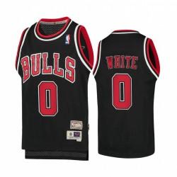 Coby Weiß Chicago Bulls Laubholz Classics Jugend Trikot - Schwarz