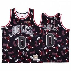 Coby Weiß & 0 Chicago Bulls Schwarz zerreißen Pack-Trikot