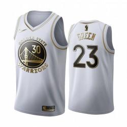 Draymond Green Golden State Warriors weiße Goldene Edition Trikot