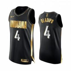 Victor Oladipo Indiana Pacers Schwarz authentische Golden Trikot Begrenzte Edition