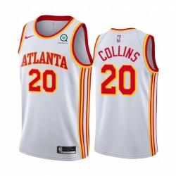 John Collins Atlanta Hawks Weiß Association Edition 2020-21 Trikot