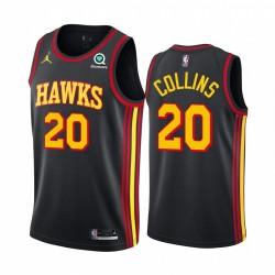 John Collins Atlanta Hawks Black Statement Edition Jumpman 2020-21 Trikot