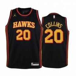 John Collins Atlanta Hawks Youth Black Statement Trikot Jumpman