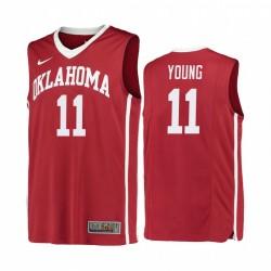 Oklahoma früher TRAE JUNGE ROT Replica College Basketball Trikot