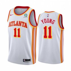 TRAE Young atlanta Hawks Weiß Association Edition 2020-21 Trikot