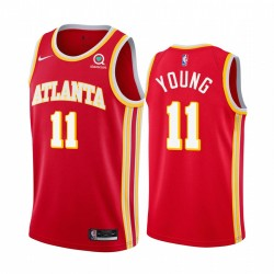 TRAE Young atlanta Hawks Rot Icon Edition 2020-21 Trikot