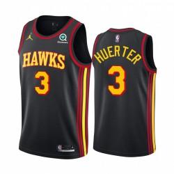 Kevin Huerter Atlanta Hawks Schwarz Anweisung Edition Jumpman 2020-21 Trikot
