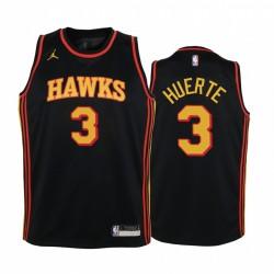 Kevin Huerter Atlanta Hawks Jugend Schwarz Erklärung Trikot Jumpman