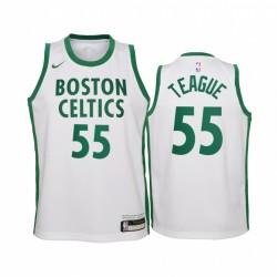 Jeff Teague Boston Celtics 2020-21 Stadt Weiß Jugend Trikot - Neue Uniform