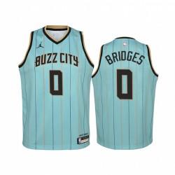 Miles Bridges Charlotte Hornets 2020-21 Buzz City Jugend Trikot - Mintgrün