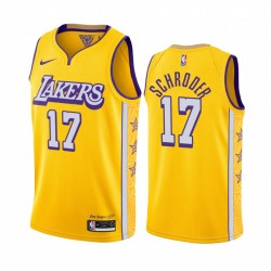Dennis Schroder Los Angeles Lakers Gold City Edition 2020 Transfer 2020-21 Trikot