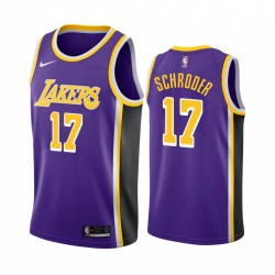 Dennis Schroder Los Angeles Lakers Purple Statement Edition 2020 Transfer 2020-21 Trikot