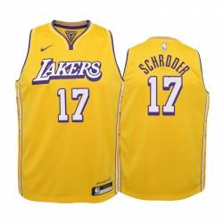 Dennis Schroder Los Angeles Lakers Jugend Gold Icon Edition Trikot 2020 Handel
