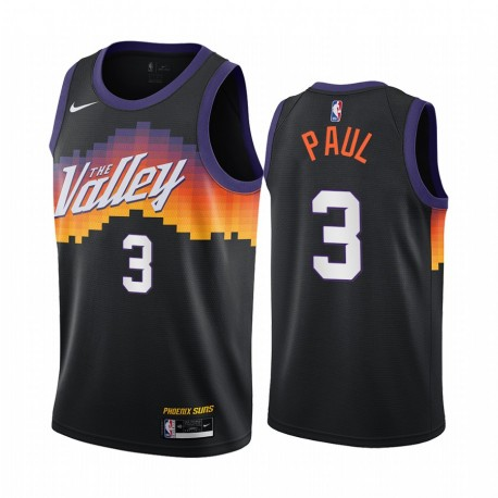 Chris Paul Phoenix Suns 2020-21 Schwarz City Edition Trikot 2020 Handel