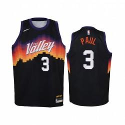 Chris Paul Phoenix Suns 2020-21 Stadtausgabe Jugendtrikot - Schwarz