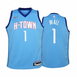 Houston Rockets John Wall 2020-21 Stadt Blue Jugend Trikot & 1