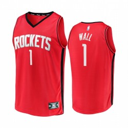 Houston Raketen & 1 John Wall Trikot Replica-Symbol Edition Rot