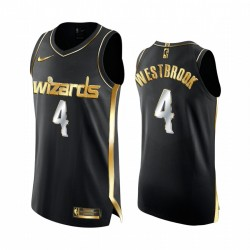 Russell Westbrook Washington-Zauberer 2020-21 Schwarz Golden Edition Trikot Authentic Limited