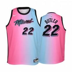 Miami Hitze Jimmy Butler 2020-21 Stadt blau Rosa Jugend Trikot -