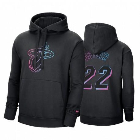Jimmy Butler Miami Hitze Wesentliche Logo Hoodie Schwarz Fleece