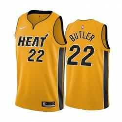 2020-21 Miami Hitze Jimmy Butler Verdiente Ausgabe Gelb & 22 Trikot