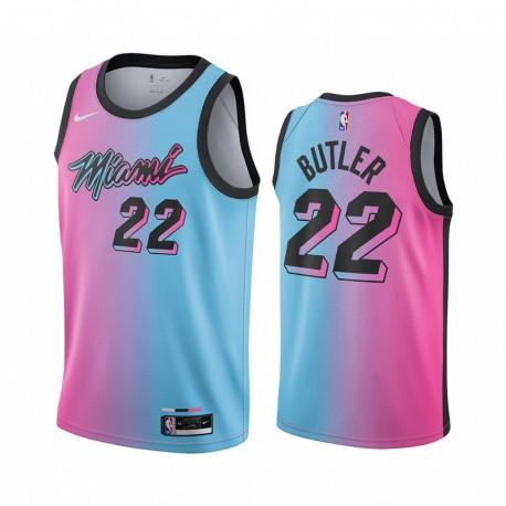 Jimmy Butler Miami Heat Blue Pick City Edition Vize 2020-21 Trikot