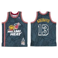 Miami Heat Br Remix Bam Adebayo & 13 grau-grüne Trikot