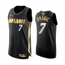 Goran Dragic Miami Heat 2020 NBA Finale Authentic Schwarz Trikot Golden Limited Edition