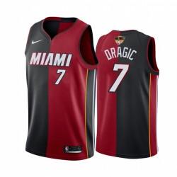 Miami Hitze Goran Dragic 2020 NBA Finals Bond Rot Schwarz Trikot Split Sonderedition