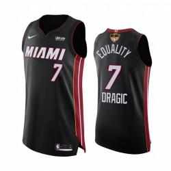 Goran Dragic Miami Hitze 2020 NBA Finale G1 Authentic Schwarz Trikot Gleichheit