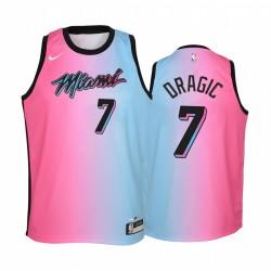Miami Hitze Goran Dragic 2020-21 City Blue Pink Jugend Trikot - Rainbow