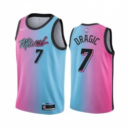 Goran Dragic Miami Heat 2020-21 Blaue Rosa City Trikot Rainbow