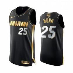 Kendrick Nunn Miami Heat 2020 NBA Finale Authentic Schwarz Trikot Golden Limited Edition