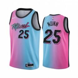 Kendrick Nunn Miami Hitze 2020-21 Blue Pink City Trikot Rainbow