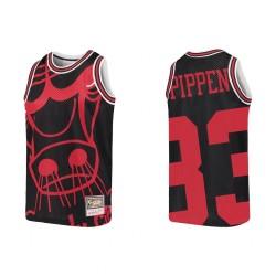 Scottie Pippen Chicago Bulls Big Face Jugend Trikot - Schwarz