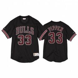 Chicago Bulls Scottie Pippen Schwarz Name # Zahlen Mesh CrewNeck Trikot # 33