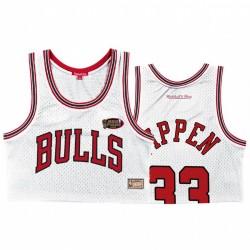 Scottie Pippen Chicago Bulls Weiß 1996 NBA Finals # 33 Hardwood Classics Trikot
