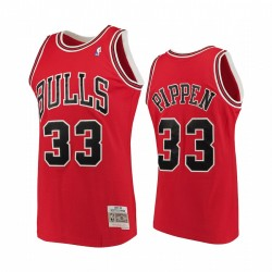 Chicago Bulls # 33 Scottie Pippen Pippen Rothartholzklassiker Männer Trikot