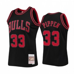 Chicago Bulls Scottie Pippen Schwarz Ringe Kollektion HWC Trikot # 33
