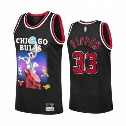 Chicago Bulls Scottie Pippen Diamond Supply Co. X Space Jam X NBA # 33 Schwarz Trikot