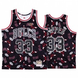 Scottie Pippen # 33 Chicago Bulls Schwarz Tear Up Pack Trikot