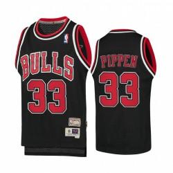 Scottie Pippen Chicago Bulls Hardwood Classics Jugend Trikot - Schwarz