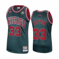 Scottie Pippen # 33 Chicago Bulls Green Hardwood Classics Authentic Trikot